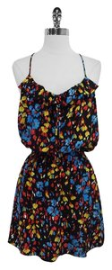Parker short dress Floral Print Silk Spaghetti on Tradesy