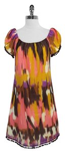 MILLY short dress Print Cotton Silk Shift on Tradesy