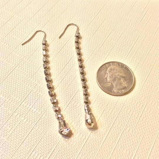 Other Silver Tone Dangle Crystal Earrings