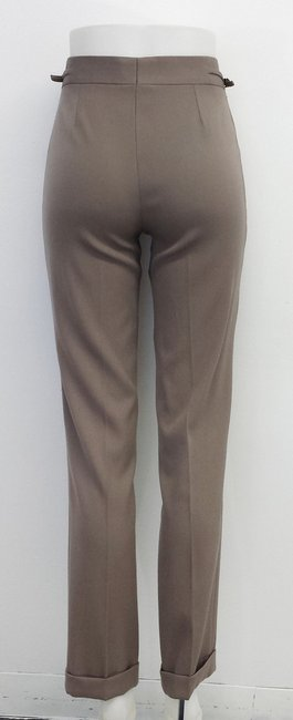 Gucci Taupe Wool Cuffed Pants