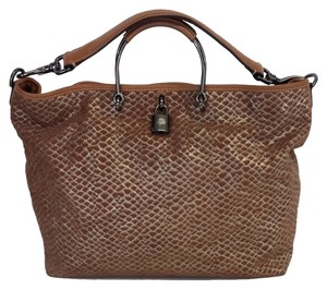 Mulberry Metallic Snakeskin Suede Shoulder Bag