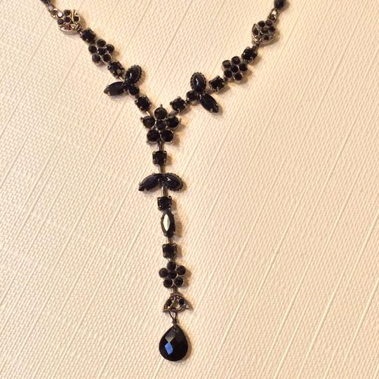 Other Black Crystal Costume Necklace