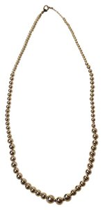 Other Silver Faux Pearl Graduated Necklace