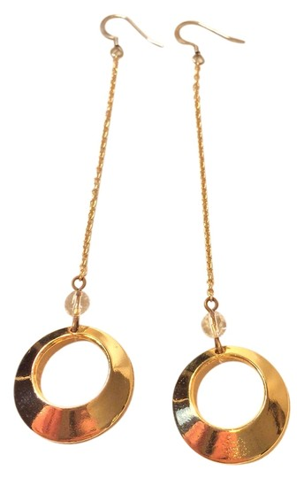 Other Gold Tone Circle Dangle Earrings