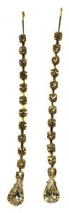 Gold Tone Dangle Crystal Earrings