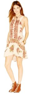 Free People short dress Coral Floral on Tradesy