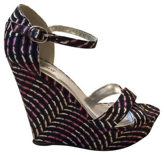 Bamboo Multicolor Wedges
