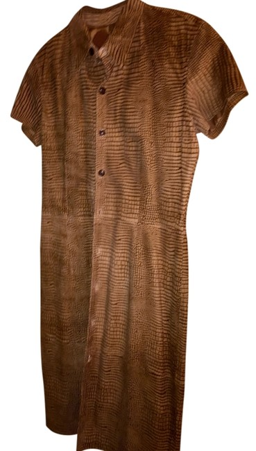 Ralph Lauren short dress Brown and Tan Suede Vintage on Tradesy