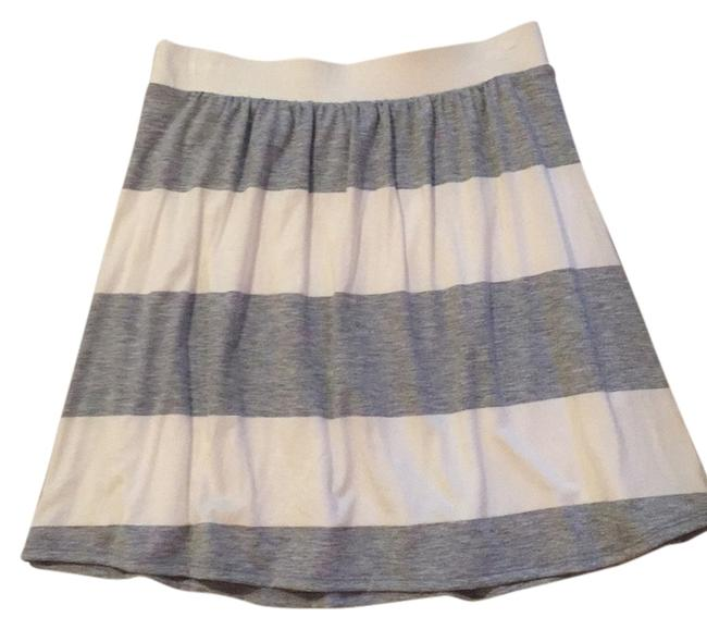 Splendid Mini Skirt Ivory & grey