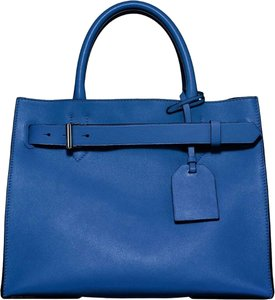 Reed Krakoff Leather Tote in Cobalt Blue