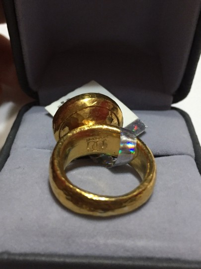 GURHAN Authentic - GURHAN - Pure Solid 24k Gold Diamond Ring with a hammered look