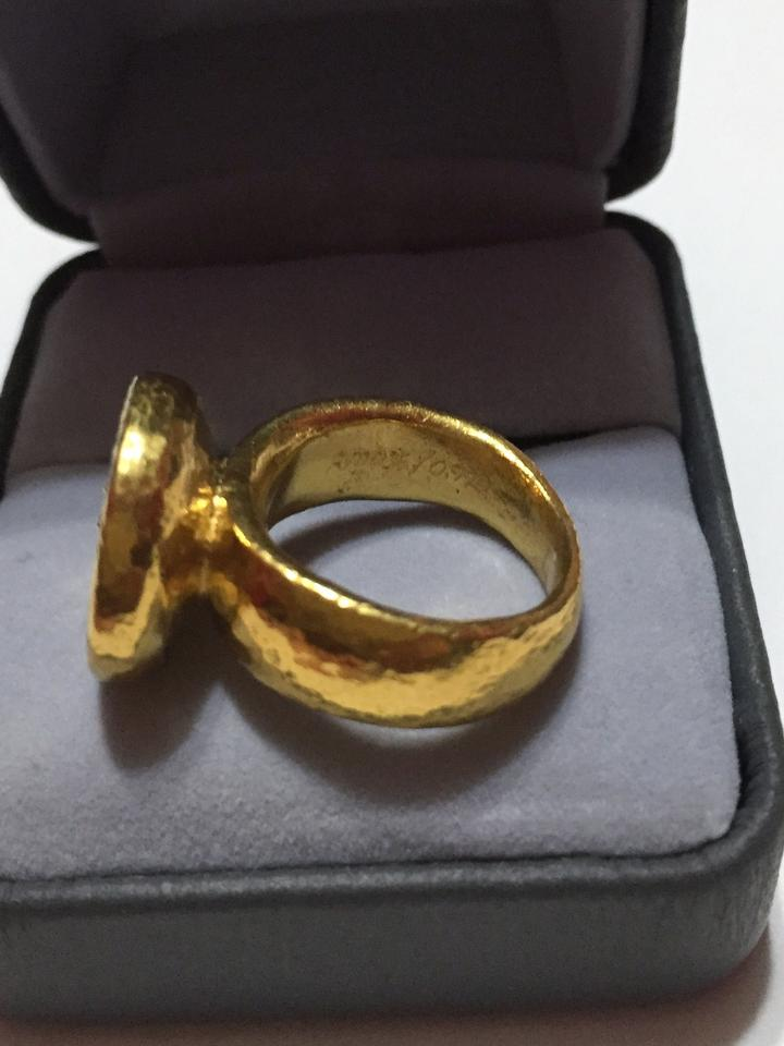 GURHAN Gold Pure Solid 24k Diamond Ring with A Hammered Look ...