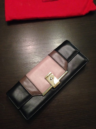Valentino Color-blocking Neutrals Clutch Shoulder Bag