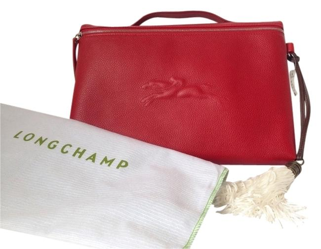 Item - Le Foulonne Red Leather Laptop Bag