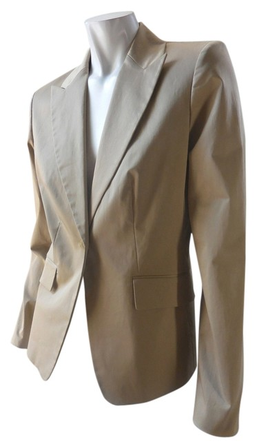 Ann Taylor Career Stretchy New With Tags Lined Tailored Notched Lapel 1798 Tan Blazer