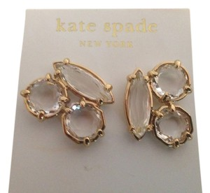 Kate Spade NWT KATE SPADE CLUSTER STUD EARRINGS CLEAR GOLD W DUST BAG $68