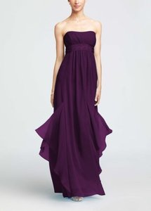 David's Bridal Plum F14865 Dress