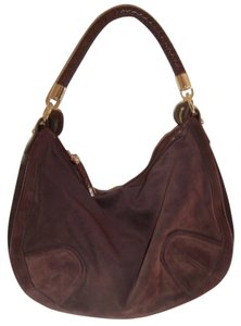 Bally Leather Suede Braided Accents Hobo Bag