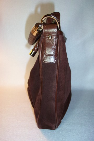 Bally Leather Suede Braided Accents Silver-tone Hardware Hobo Bag