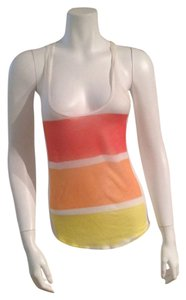 In Love Striped Tee Striped Striped Top Red, Orange, Yellow, White