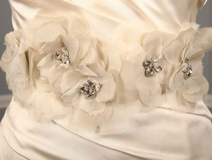 Ss11-sh-32 Ivory Embellished Bridal Sash Be;t
