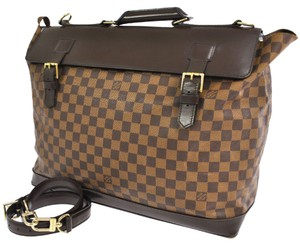 Louis Vuitton Damier Canvas West End Pm Travel Totes Brown Travel Bag