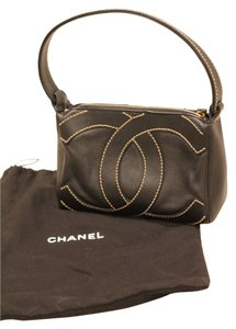 Chanel Shoulder Hand Tote in black