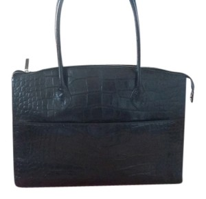 Michael Rome Croco Tote in Black