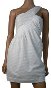 BCBGeneration short dress White One Shoulder Cotton on Tradesy