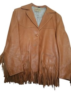 geronimo forrest a heath inc brown Leather Jacket