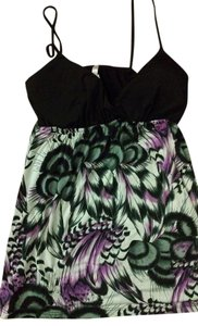 Rue 21 Top Black and floral