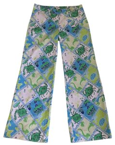 Lilly Pulitzer Straight Pants Blues and greens