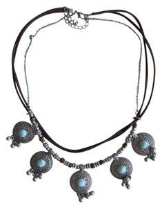 Urban Outfitters Urban Outfitters Turquoise Bohemian Statement Necklace