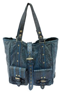 Mulberry Python Roxanne Tote in Blue & Black