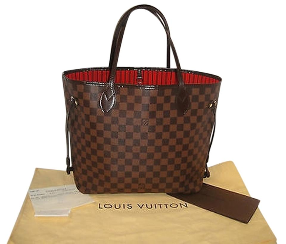 2430bdd4e1c8 Louis Vuitton Neverfull Mm Hand N41358 Tote in BROWN Damier Ebene Image 0  ...