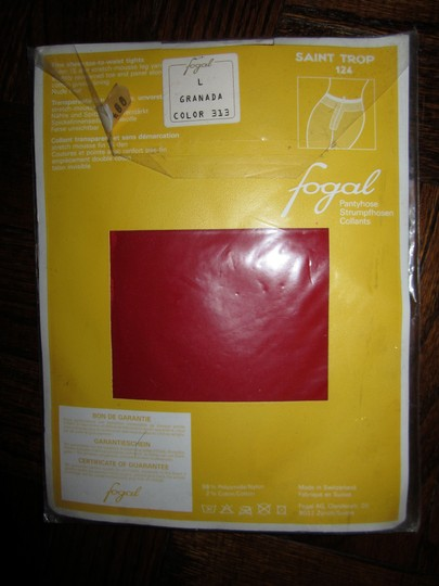 Other Fogal Saint Trop 124 Large Granada Red Tights