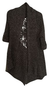 BCBGMAXAZRIA Knit Detailed Wool Charcoal Jacket