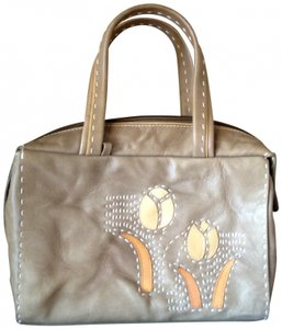 Hilary Radley Tulip Leather England Satchel in taupe