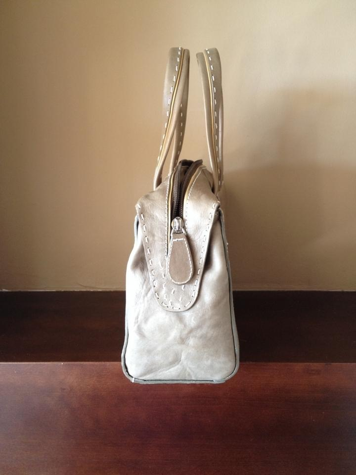 Hilary Radley Tulip Leather Purse England Satchel In Taupe 123456
