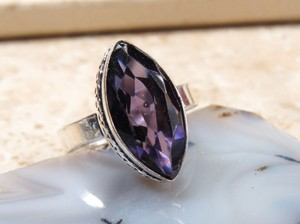 Marquis Amethyst Fashion Ring Free Shipping