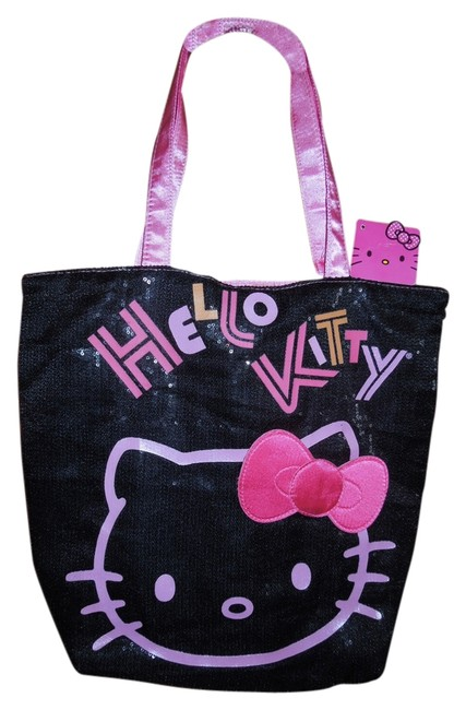 Item - Black and Pink Polyester Tote