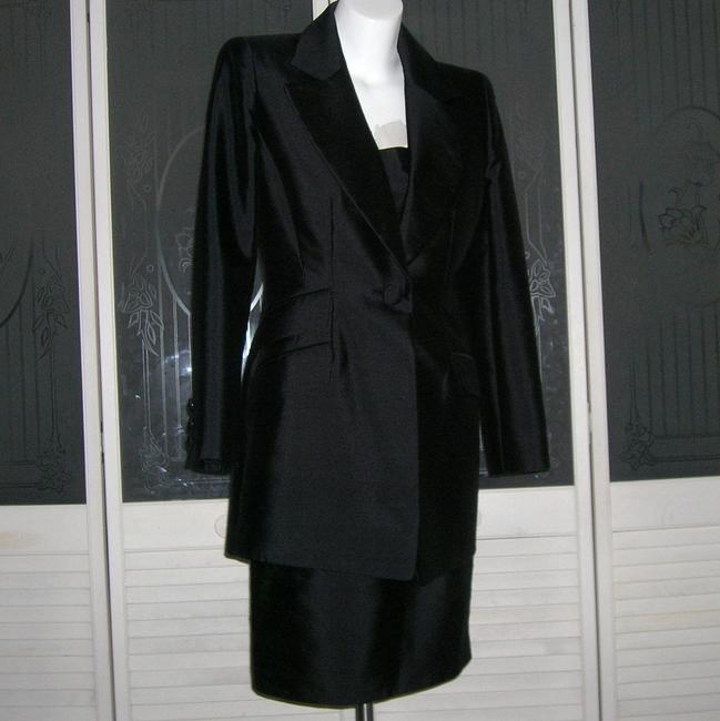 Badgley Mischka Power Suit Suit 2 Pc Silk Suit Dress