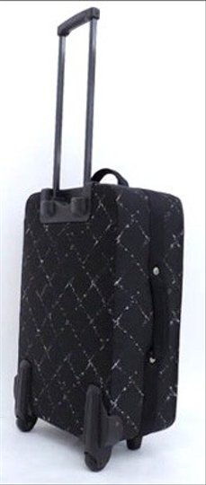 Chanel Rolling Suitcase Quilted Zephyr Graffiti Travel Bag