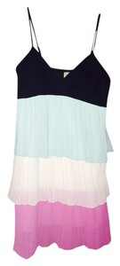 Johnny Martin short dress Black, Light Blue, White and Pink Mid-length Turquoise on Tradesy