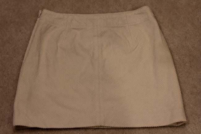 Banana Republic Mini Mini Mini Skirt off white corduroy
