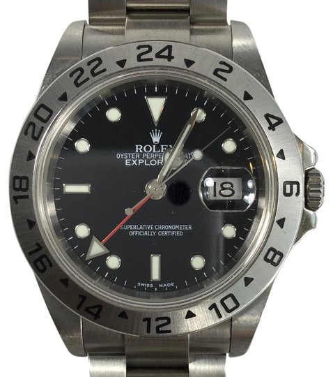 Rolex 2003 Rolex Explorer II 16570 Steel Black Dial GMT 40mm