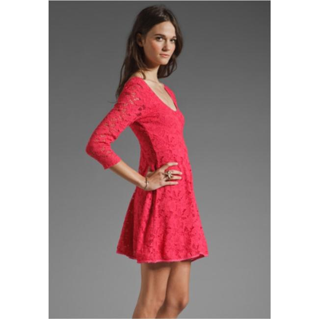 Free People short dress Hot pink on Tradesy
