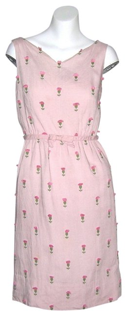 Preload https://img-static.tradesy.com/item/417206/pink-vintage-60s-eyelash-embroidery-wiggle-knee-length-workoffice-dress-size-6-s-0-0-650-650.jpg