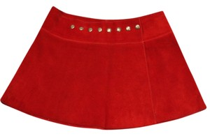Ona Saez Micro-mini Mini Ultra Mini Mini Skirt Red Suede