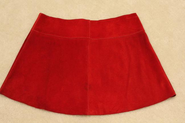 Ona Saez Micro-mini Mini Ultra Mini Skirt Red Suede